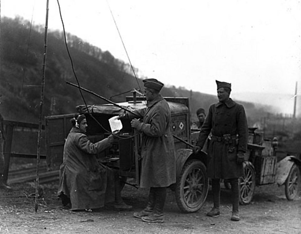 The first radio station established by the German army during World War One.