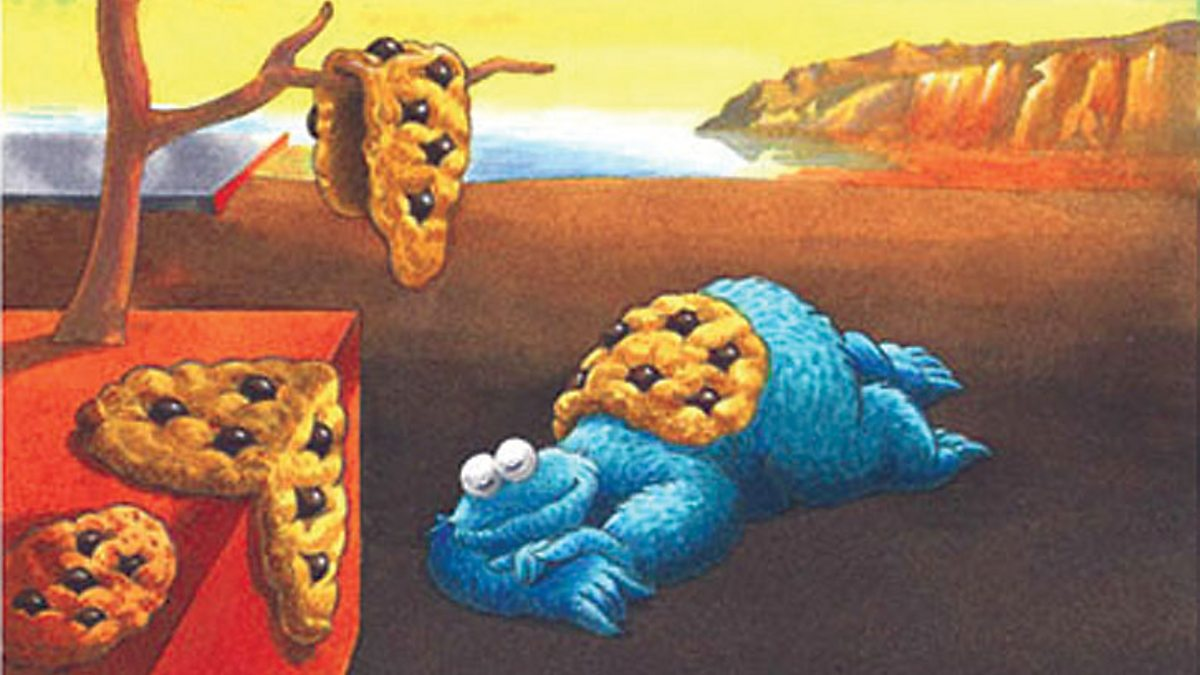 Bbc One Melting Cookie Monster Modern Masters Dali