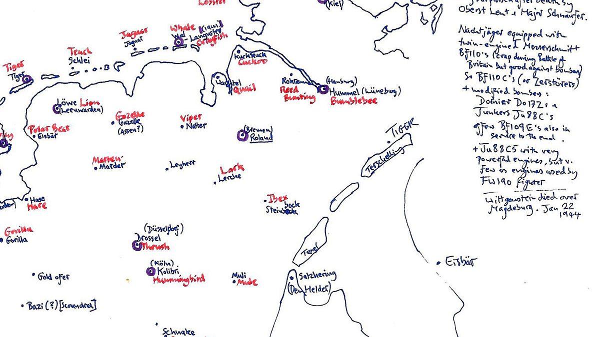 Bbc Radio 3 Map Of Animal Themed Code Names For German