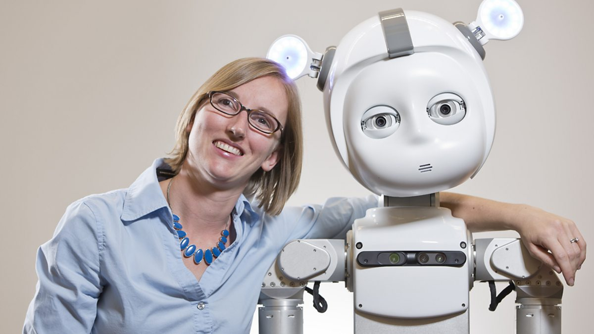 Andrea Thomaz and her Robot