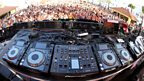 A whole lot of decks at Ushuaia