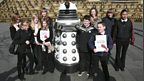 BBC School Report pupils from Birley Community College at Sheaf Square