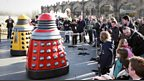 These Daleks are not camera shy!