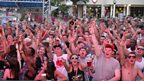 The Mallorca Rocks crowd as the sun sets