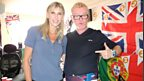 Chris with coverage queen Sharron Davies