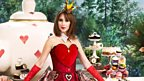 Alex Jones as the Queen of Hearts - Asda's Mad Hatter's Tea Party is encouraging people to bake cakes to raise money