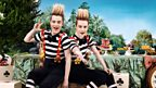 Jedward as Tweedledum and Tweedledee - Asda's Mad Hatter's Tea Party is encouraging people to bake cakes to raise money