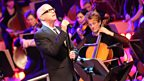 The Pet Shop Boys and the BBC Philharmonic Orchestra performed at BBC MediaCity in Salford