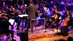 The BBC Philharmonic Orchestra accompany the Pet Shop Boys