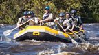 Greg James rows the Zambezi