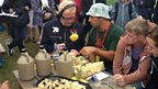Chris talks cheese with the car fest cheese experts