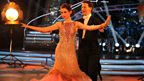 Sophie Ellis Bextor and Brendan Cole dance the Foxtrot