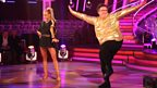 Mark Benton and Iveta Lukosiute dance the Cha Cha