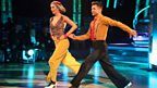 Rachel Riley and Pasha Kovalev dance the Quickstep