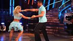 Ben Cohen and Kristina Rihanoff dance the Salsa
