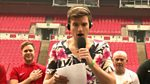 Greg James....in a dress...singing....live from Wembley Stadium.