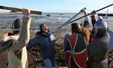Julia explores Lindisfarne