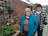 Mavis and Jimmy get to work on their back alley farm in Middlesbrough