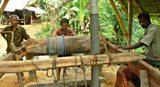 Sapphire mine shaft head in Sri Lanka