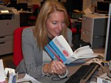 Laura reading one of Lauren Child's books