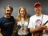 Laura with celebrated songwriter Slaid Cleaves and Chojo Jacques