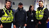 Sgt Chris Peters and PC Geraint Rees with the Police 24/7 team