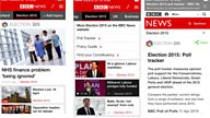 BBC News app: in app browser and compact mode