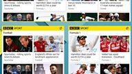 """BBC Sport app: """"Top Stories"""" widget"""