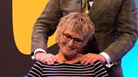Vic Reeves gives Linda Henry a massage