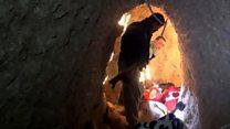 ISの地下壕を発見 アメリカ製弾薬の箱も