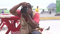 The blind photographer capturing Paralympics