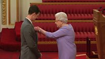 Jamie Murray receives OBE from the Queen