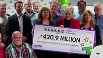 US factory workers win $421m lottery