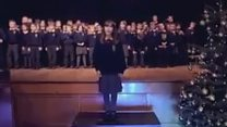 Schoolgirl wows audience with her voice