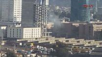 İzmir Adliyesi'ndeki patlamadan ilk görüntüler