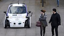Driverless cars tested in Milton Keynes