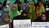 نساء هنديات يطالبن بالغاء الطلاق بالثلاث
