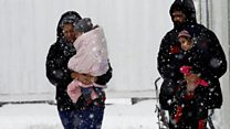 Winter freeze hits refugees in Greece