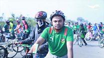 Bangladesh cyclists smash world record