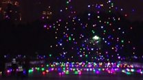 Glittering drone 'performance' in China