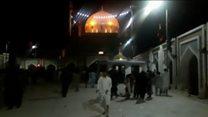 Footage from inside Pakistan shrine