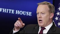 Spicer challenged about media ban