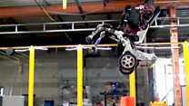 Robot leaps and spins with wheel-legs
