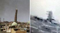 Video 'shows Mosul mosque's destruction'