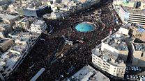 Huge crowds, anger and the supreme leader's tears