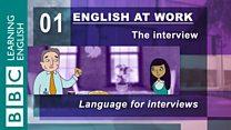 English at Work - 01 - Language for interviews