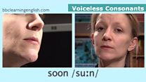 Sounds of English: voiceless consonants: soon