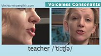 The Sounds of English: Voiceless consonants: teacher