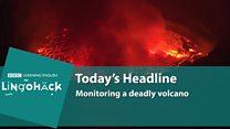 Lingohack: 29 November: Volcano: Image with headlines