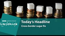 Lingohack: Sugar tax: Image with headlines